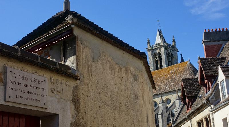 Moret-sur-Loing, la maison d'Alfred Sisley Photo LC - M'Essonne
