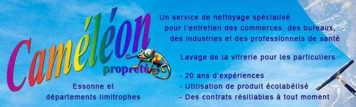 Entreprise de nettoyage en Essonne Caméléon propreté https://www.cameleonproprete.com