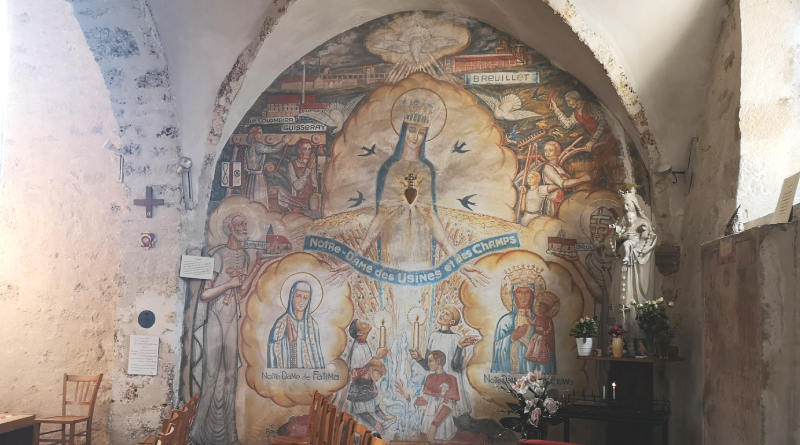Fresque église de Breuillet