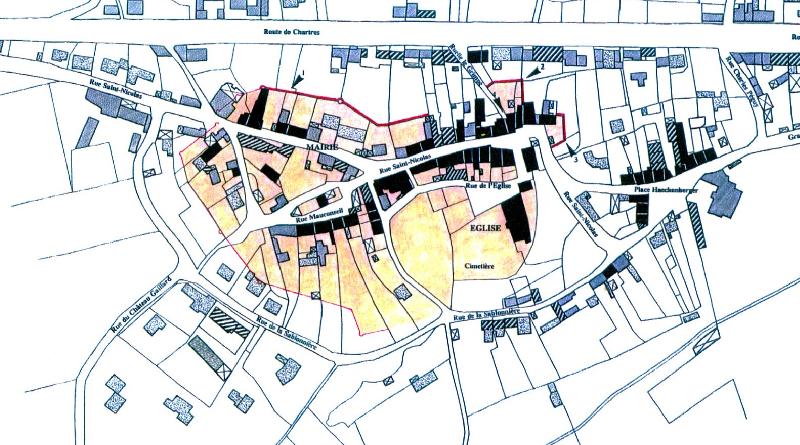 Carte ancienne Gometz-le-Châtel