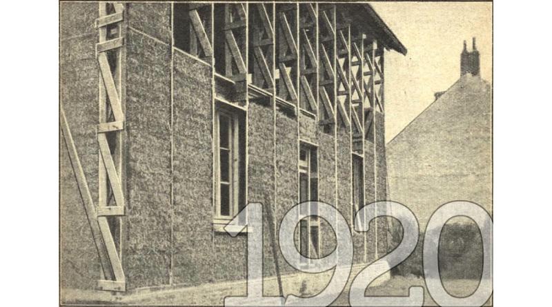 La construction de la maison à Montargis en 1920.