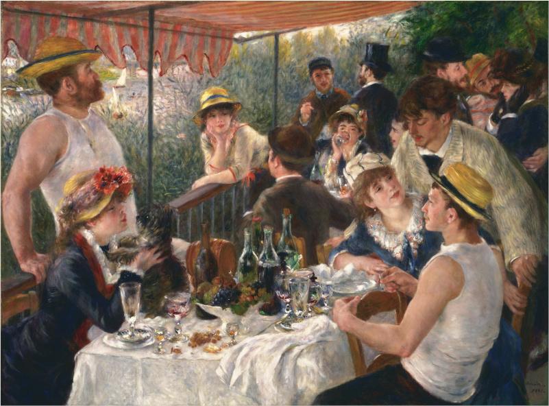 Le déjeuner des canotiers, Pierre Auguste Renoir, 1881.