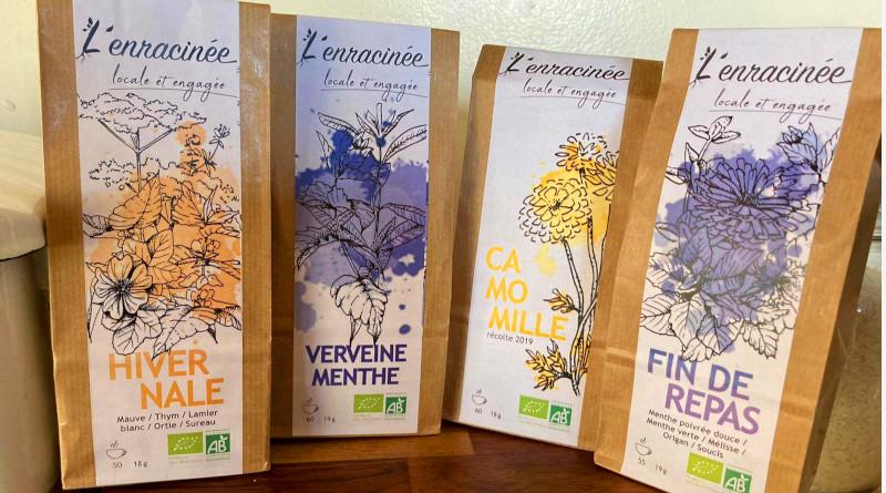 Les mélanges pour infusions concoctés par Aline. © M'Essonne