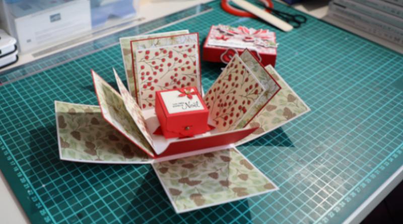 La boîte à explosion, pour un petit cadeau ou pour présenter des photos.