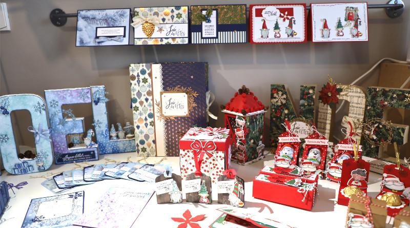 Les créations dédiées à Noël de Scrapateliers.