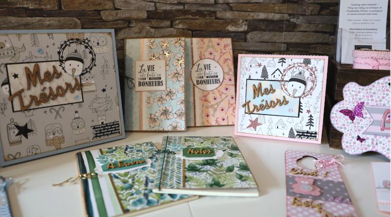 Nathalie propose toute une gamme de produits à base de papier. Photo LC-M'Essonne