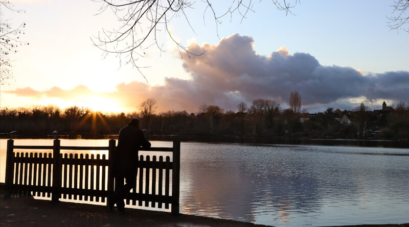 Les étangs de vert-le-Petit au soleil couchant d'hiver. Photo LC-M'Essonne