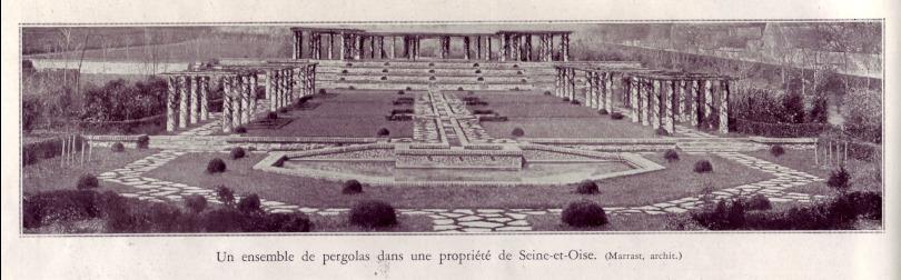 Le parc Boussard dans son apparence originelle, en 1932. Journal L'illustration du 28 mai 1932, spécial jardins.