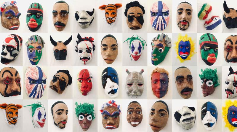 Exposition Sous le masque par le lycée Auguste Perret d'Evry Courcouronnes et la scène de l'Agora-Desnos