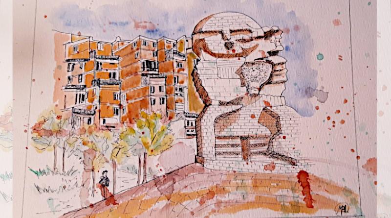 Le quartier des Pyramides, à Évry-Courcouronnes, par Brigitte.
