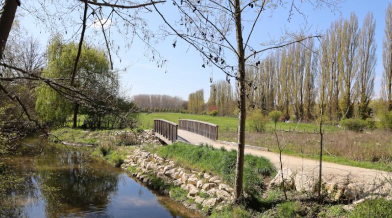 Le cheminement jusqu'au parc de l'eau est assez récent. Photo LC-M'Essonne