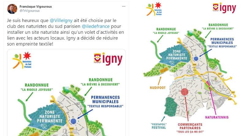 Poisson d'avril 2021 en Essonne : Igny ville naturiste.