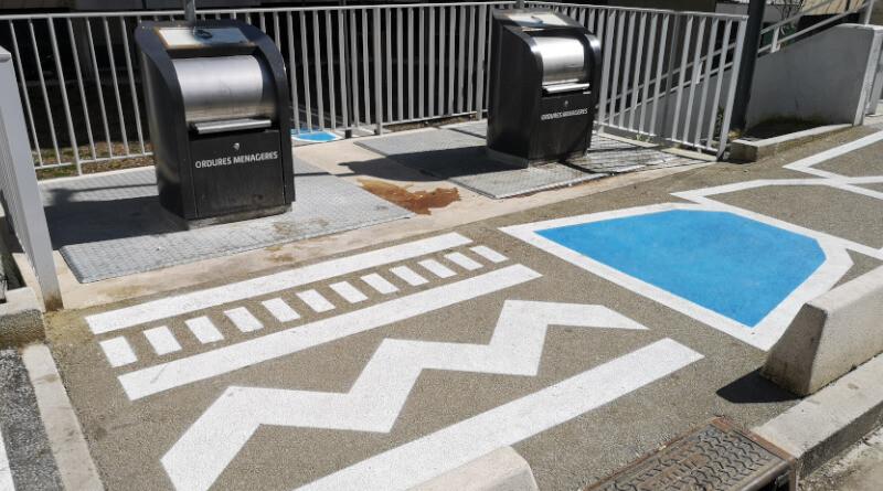 projet design au Square Surcouf à Grigny. Photo LC-M'Essonne
