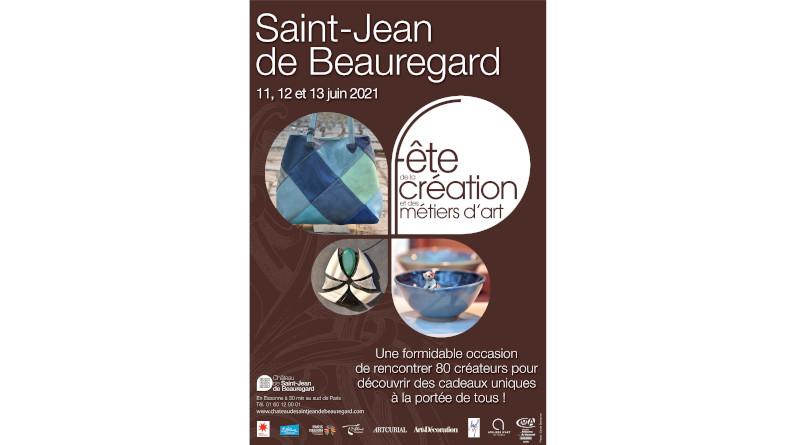 Affiche de la Fête de ma création et des métiers d'art à saint-jean-de-Beauregard 2021