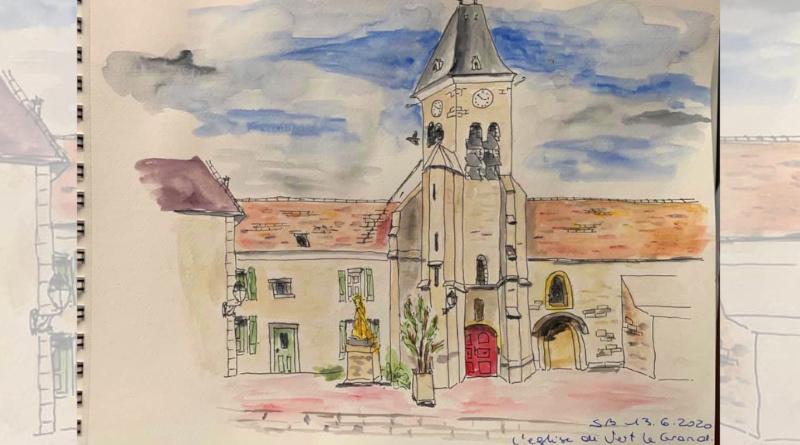 L'église de Vert-le-Grand par Sylvie B.