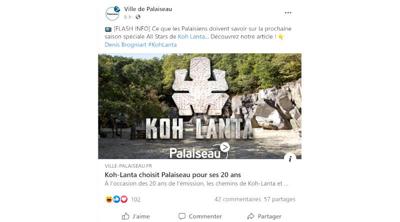 Poisson d'avril 2021 en Essonne : Koh-Lanta vient à Palaiseau.