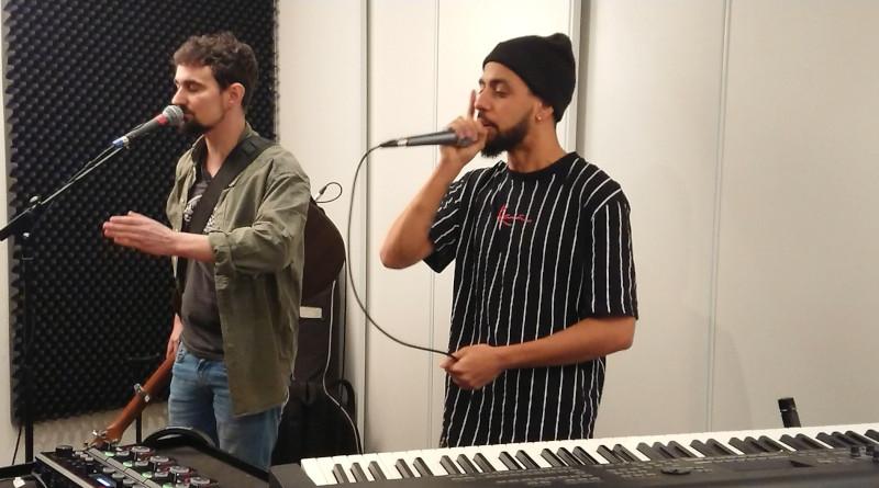 Le duo Toan'Co a participé à la vidéo avec sa poésie urbaine. Photo (c) service culturel Itteville
