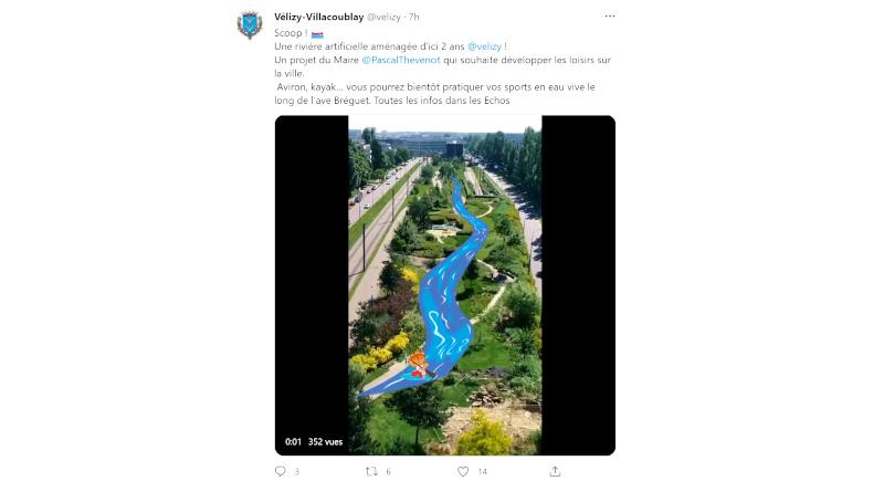 Poisson d'avril en Essonne 2021 : une rivière à Vélizy