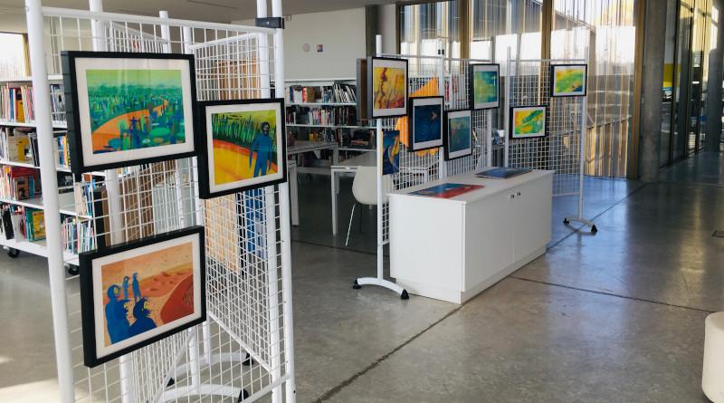 Des expositions de planches originales, notamment, étaient accessibles dans les médiathèques. Photo (c) association FLPEJR