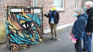 visite streeet art evry par franck senaud 1 photo LC MEssonne